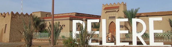 Front of Belere Hotel in Morocco
