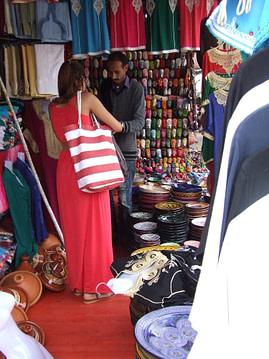 Shopping at Marrakech Market, Morocco