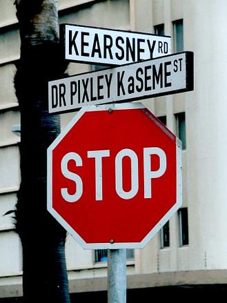 Durban street name, Dr Pixley kaSeme Street