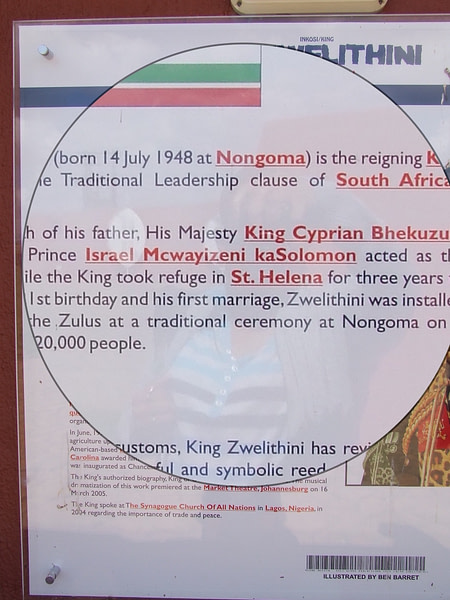 Image of King Goodwill Zwelithini permanent display at Ncome Museum, KwaZulu-Natal, South Africa, as on 30 March 2013.